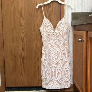 charolette russe bodycon dress with lace pattern